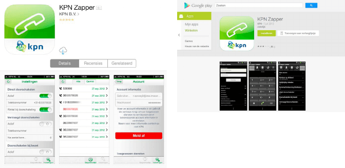 Telefooncentrale op uw telefoon met de KPN zapper App